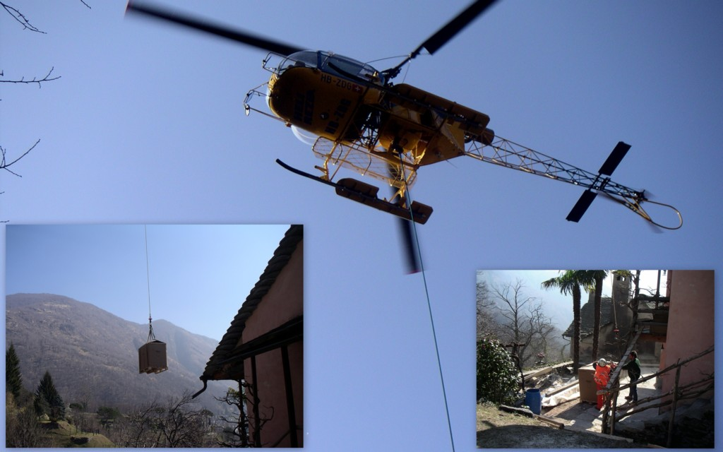 Livraison même par hélicoptère